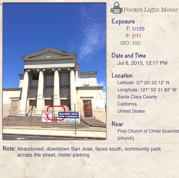 Pocket Light Meter Application