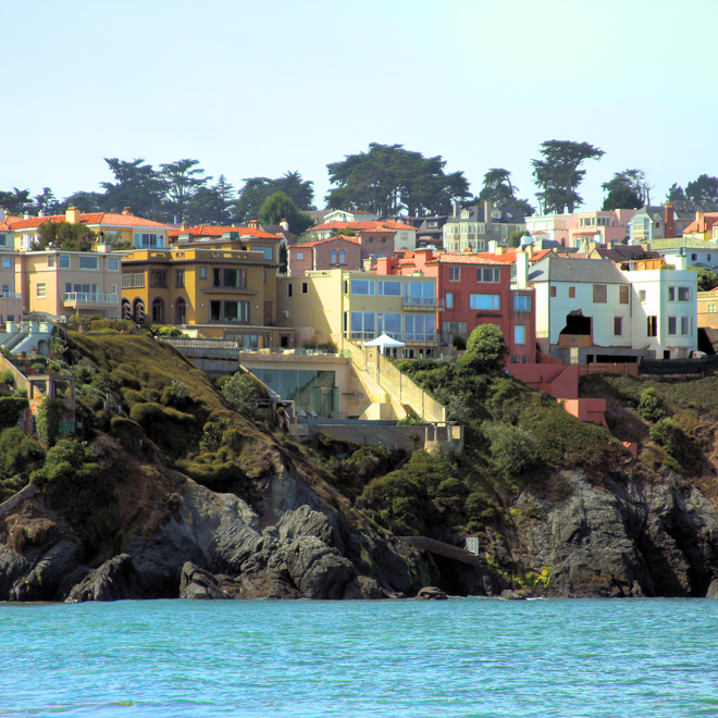 Homes on the north coast of San Francisco